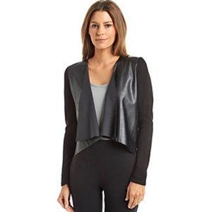 Calvin Klein Faux Leather Open Shrug cardigan L